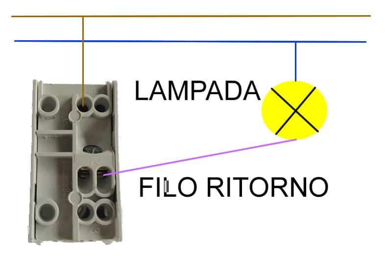 schema colleamento elettrico di un interruttore